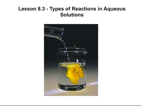Lesson 8.2 - Types of Reactions in Aqueous Solutions - YouTube