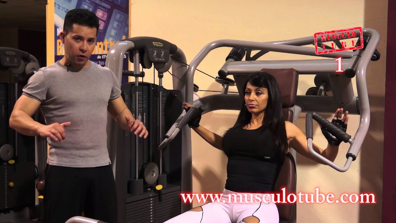 Press Inclinado En M 225 Quina Ejercicio 1 Musculotube Youtube