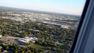 Embraer 145 final approach and Landing to Wichita Midcontinent Airport, KS, USA