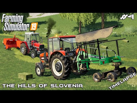 Mowing and baling 260 hay bales | The Hills Of Slovenia | Fa