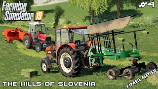 Mowing and baling 260 hay bales | The Hills Of Slovenia | Farming Simulator 2019 | Episode 4