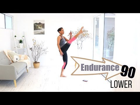 INTERVAL WORKOUT Butt and Thigh WORKOUT - BARLATES BODY BLITZ Endurance 90 Lower