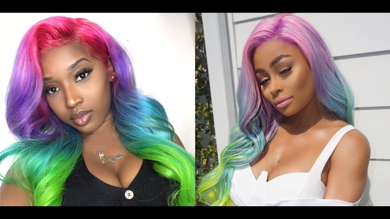Blac Chyna Diy Unicorn Hair Giveaway Winner L Whitfabby Youtube