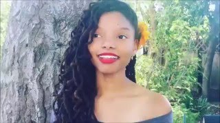 Halle Bailey sings Unforgettable (Chloe x Halle)