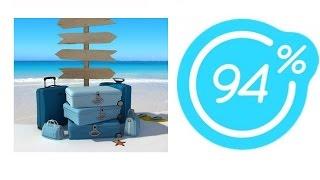 Игра 94% Картинка Чемоданы, море, пляж | Ответы на 16 уровень игры.