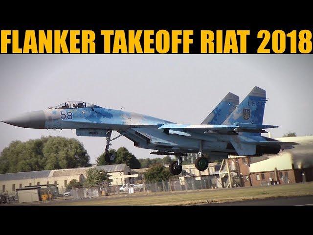 Ukrainian Su-27 Takeoff | RIAT 2018