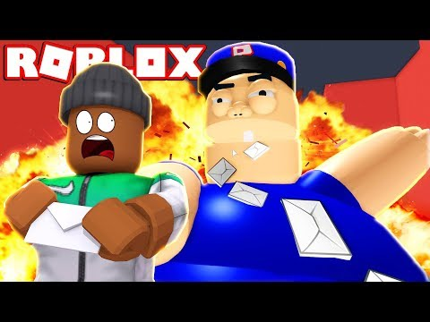 ESCAPE THE MAILMAN OB!!  Roblox Roleplay