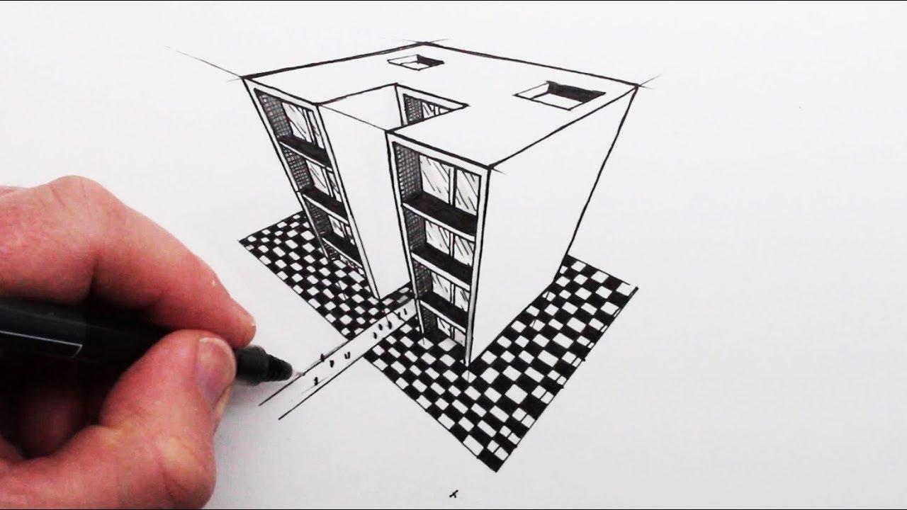 איך לצייר עם 3 נקודות מגוז: מבנים פשוטים
