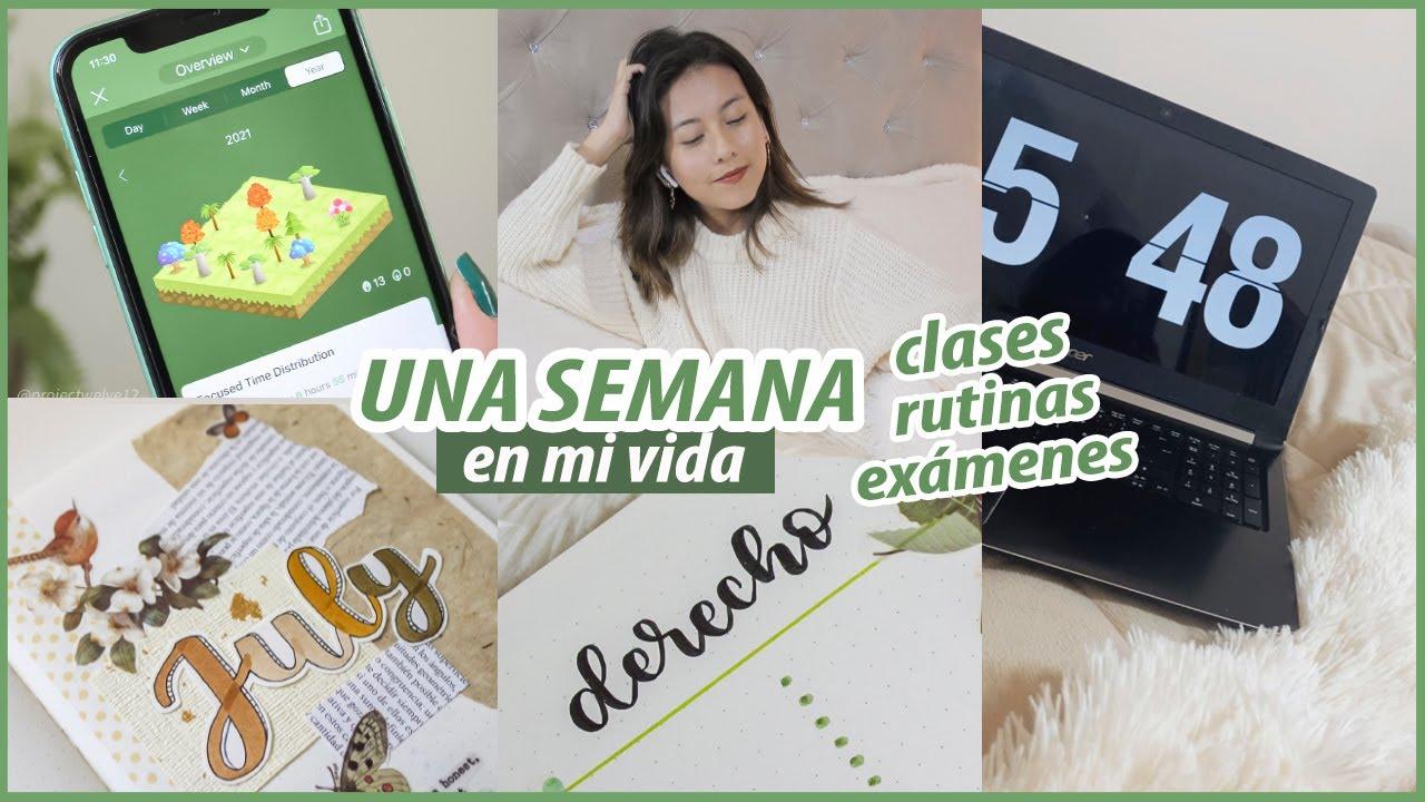 VLOG SEMANA DE EXÁMENES DE DERECHO - Clases, compras, rutinas, organización y más !