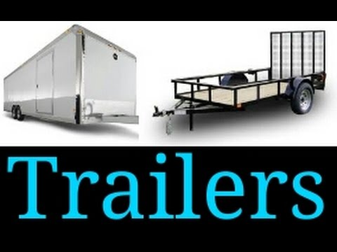 """ Open vs Enclosed Trailers"""