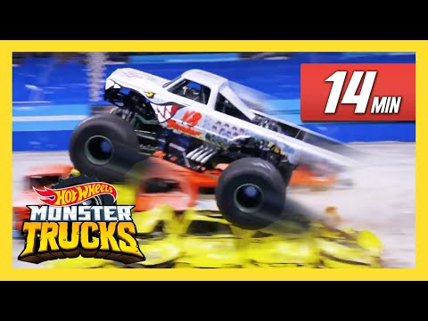 CRAZY Monster Trucks Live Moments! | Monster Trucks Live | Hot Wheels