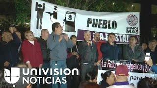 Mexicanos protestan contra el posible aumento del precio productos de la canasta familiar