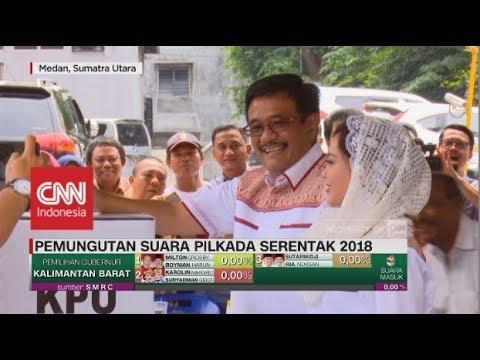 Cagub Sumut Djarot & Istri Mencoblos Di Medan