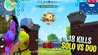 18 Kills Solo vs Duo Amazing Headshots Gameplay Like Headshot Hacker | Garena Free Fire - PK Gamers