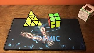 Unboxing SpeedCubeShop Cosmic Mat, YuXin Little Magic Pyraminx, Cyclone Boys 2x2