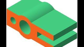 Видеоуроки Компас 3D. Урок 5 Создаем чертеж простого горизонтального разреза детали