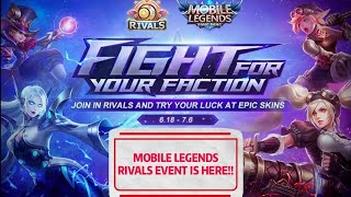 MOBILE LEGENDS!! RIVALS EVENT IS HERE!!