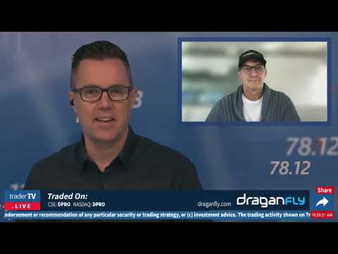 Draganfly Inc, Cameron Chell, Chariman & CEO on TraderTV Live