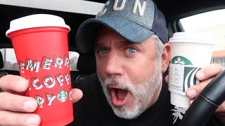 TRYING STARBUCKS PEPPERMINT MOCHA! HOLIDAY LAUNCH DAY & FREE RESUABLE CUPS!