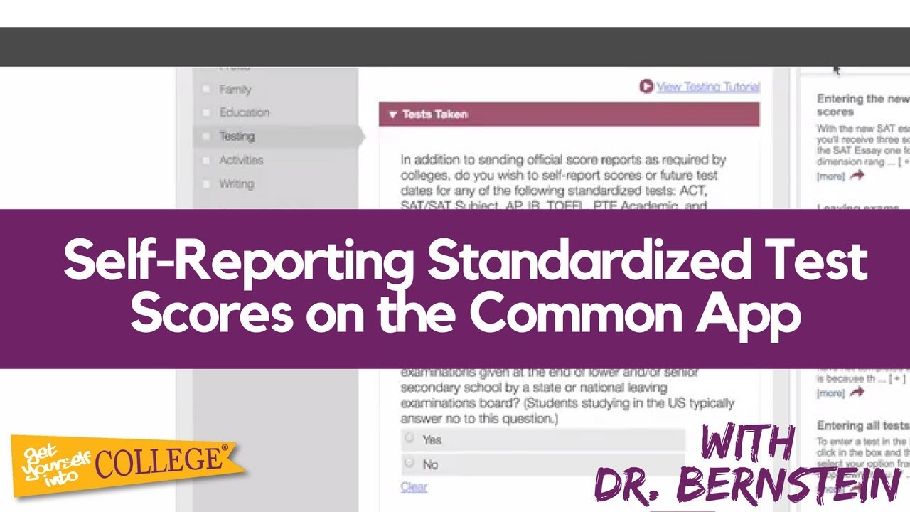 Should You Self-Report Standardized Tests in the Common App