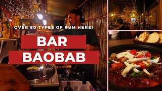 Try 80 different types of Rum from all around the world at Bar Baobab, Shinjuku!