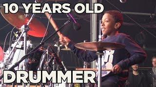 10 YEARS OLD REGGAE DRUMMER NATHAN BURNETT LIVE @ REGGAE LAKE FESTIVAL AMSTERDAM