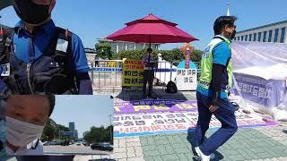 [긴급] 국회의사당앞- 일사각오 윤치환목사 , 차별금지…