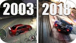 THE Evolution Of Drift In Racing Games 2003-2018