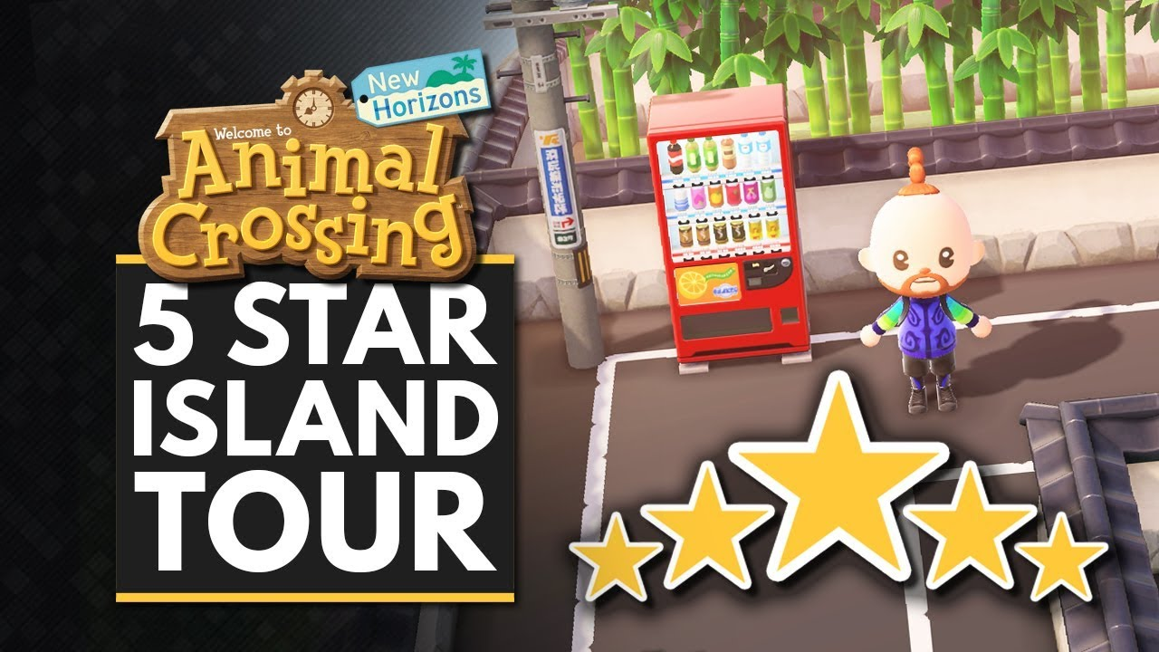 Animal Crossing New Horizons My 5 Star Island Tour Japanese Town Design Youtube