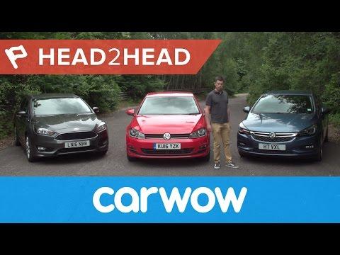 Volkswagen Golf vs Ford Focus vs Vauxhall/Opel Astra 2017 review | Head2Head