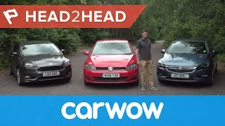 Volkswagen Golf vs Ford Focus vs Vauxhall/Opel Astra 2017 review | Head2Head