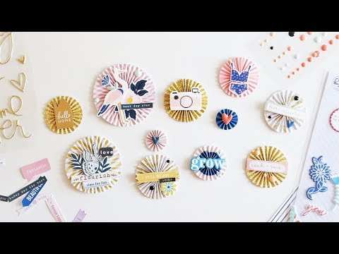 DIY Paper Rosettes with Sunny Days Collection and the Wild Hare Kits