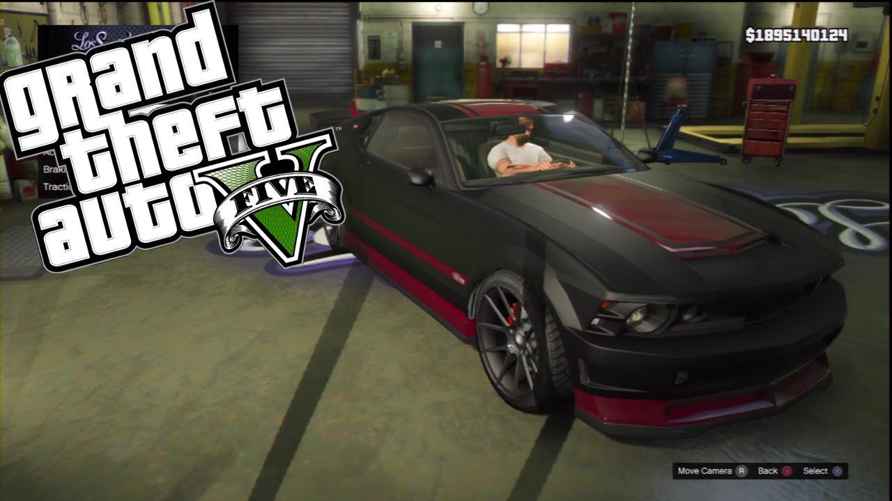 Gta V Custom Car Build Ps Race Frankensteins  Ford Mustang Gt Vapid Dominator