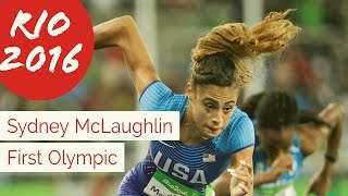 Rio 2016 - N J  Teen Sydney McLaughlin barely Clears Her First Olympic Hurdle