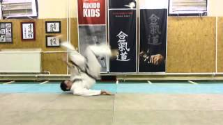 front fall 2/ előre esés önállóan [TUTORIAL] Aikido empty hand basic technique