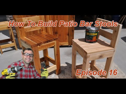 How to Make Simple Bar Stools | 2x4 Bar Stool