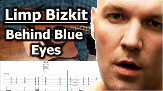 Limp Bizkit - Behind Blue Eyes (Acoustic Guitar Cover Tutorial with Tab)