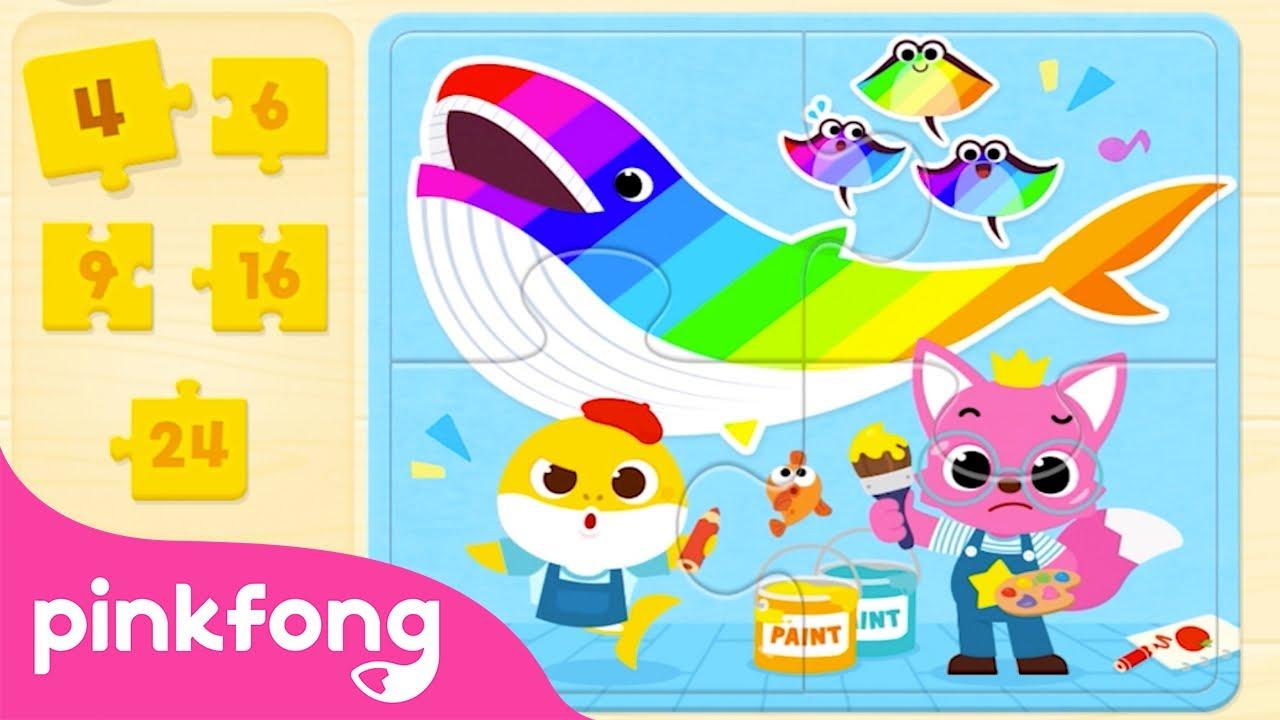 Пазл Акулёнка   Поиск КУПОНА в видео   Пинкфонг! Приложение для Детей