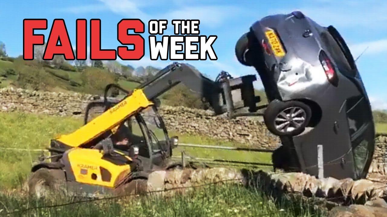 Angry Farmer Flips Car Off His Land  Fails Of The Week  FailArmy