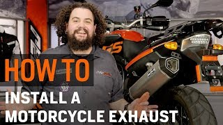 How To Install a Motorcycle Exhaust at RevZilla.com