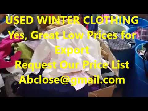 ABC Used Mixed Winter Clothing Supplier, Used Winter and Used Sweatshirts in Miami, Florida