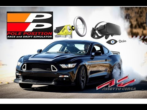 Mustang Wide Body R2 - Drift in Assetto Corsa - Barcelona - Direct Drive Big mige