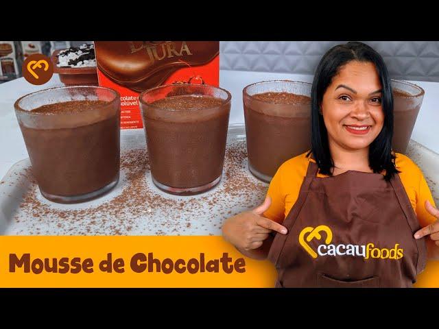 Mousse Fácil de Chocolate | Cacau Foods