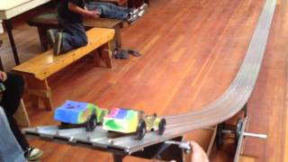 Racing wooden cars - Pinewood Derby