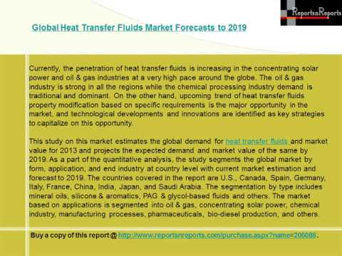 Global Heat Transfer Fluids Market Forecasts to 2019