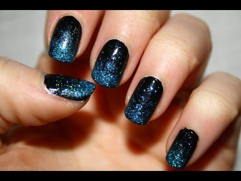 Sfumatura in glitter tutorial nail art youtube for Immagini con brillantini