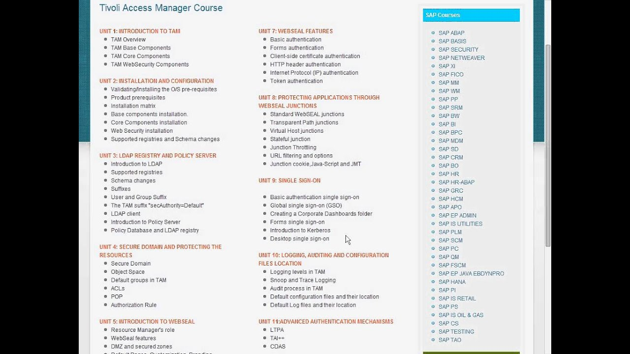 Ibm Tivoli Access Manager Tutorial Ibm Tivoli Access Manager Tam Online Training And Placement Training Aspirants
