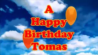 Tomas Happy Birthday floating balloons thumbnail