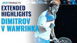 Extended Tennis Highlights: Grigor Dimitrov v Stan Wawrinka Cincinnati 2019