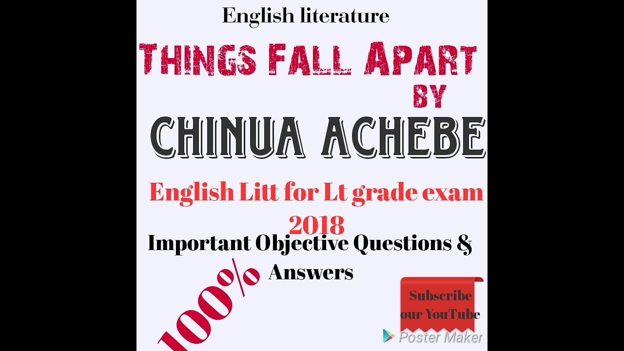 a literary analysis of okonkwos fear in things fall apart by chinua achebe Book review : things fall apart by chinua achebe it is the book that brought the story from the 'dark continent' through the voice of an educated african through which he showed the conflict between african values and the advent of christianity in nigeria.